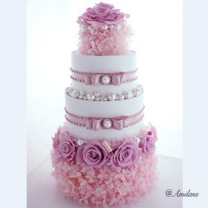 プリザーブドフラワーケーキ 誕生日 お祝い サプライズ 還暦|came
