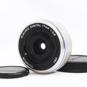 オリンパス OLYMPUS M.ZUIKO DIGITAL 17mm F2.8 シルバー 美品  交...