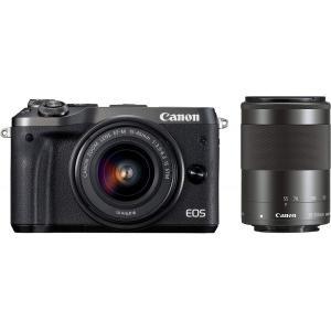キヤノン Canon ミラーレス一眼カメラ EOS M6 ダブルズームキット(ブラック) EF-M1...