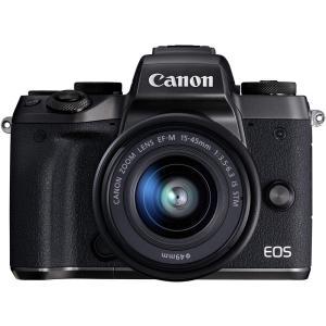 キヤノン Canon EOS M5 レンズキット  EOSM5-1545ISSTMLK 新品SDカー...
