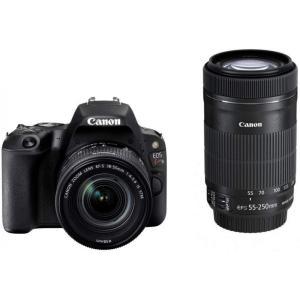 キヤノン Canon EOS Kiss X9 ダブルズームキット (ブラック)  新品SDカード付き...
