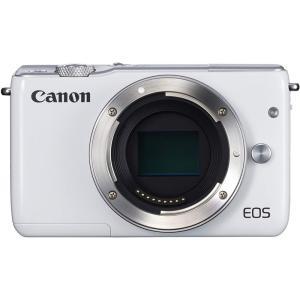 キヤノン Canon ミラーレス一眼カメラ EOS M10 ボディ(ホワイト)   新品SDカード付...