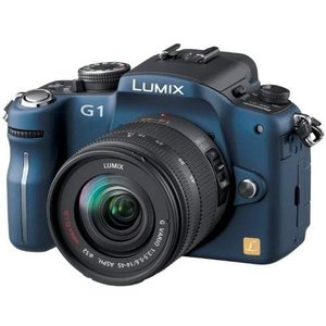 パナソニック デジタル一眼カメラ LUMIX ルミックス G1 レンズキット コンフォートブルー 新品SDカード付きの商品画像|ナビ