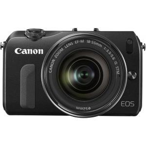 キヤノン Canon ミラーレス一眼カメラ EOS M レンズキット ブラック 新品SDカード付き