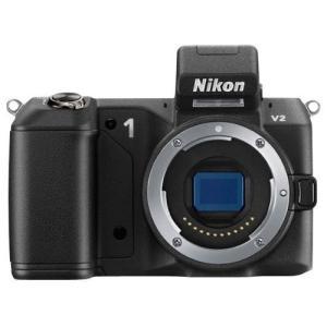 ニコン Nikon ミラーレス一眼 ニコン Nikon 1 V2 ボディー ブラック 新品SDカード...