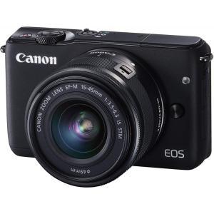 キヤノン Canon EOS M10 レンズキット ブラック   EOSM10BK-1545ISST...