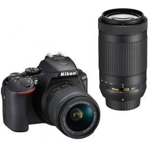ニコン Nikon デジタル一眼レフ D5600 ダブルズームキット ブラック 新品SDカード付き ...