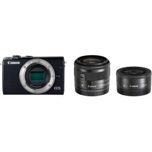 キヤノン Canon EOS M100 ダブルレンズキット ブラック 新品SDカード付き <プレゼン...