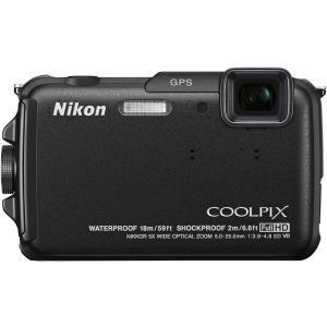 ニコン Nikon COOLPIX AW110 防水18m 耐衝撃2m カーボンブラック AW110...
