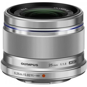 オリンパス OLYMPUS M.ZUIKO DIGITAL 25mm F1.8 シルバー マイクロフ...