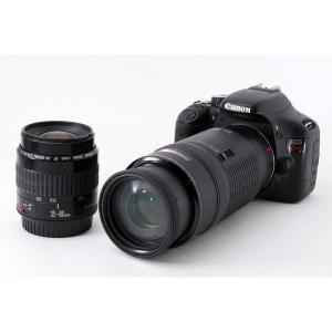 キヤノン Canon EOS Kiss X4 標準&超望遠ダブルレンズセット ブラック 美品 ストラ...