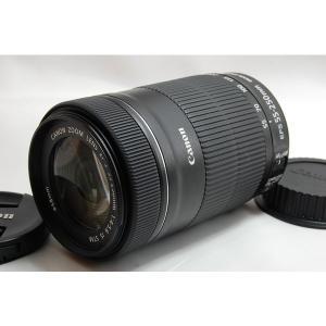 キヤノン CANON EF-S 55-250mm f/4-5.6 IS STM 美品 EF-Sマウン...