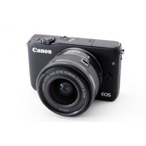 キヤノン Canon EOS M10 レンズキット ブラック 美品 新品8GB SDカード付き、スト...