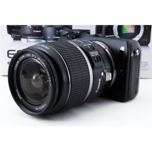 キヤノン Canon EOS M ブラック レンズキット 美品 軽量・コンパクト ストラップ付き <...