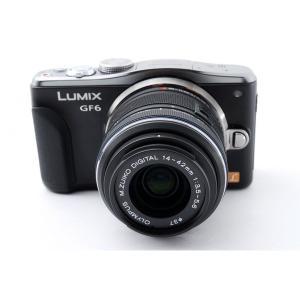 パナソニック Panasonic  ミラーレス一眼 LUMIX DMC-GF6 ブラック レンズセッ...