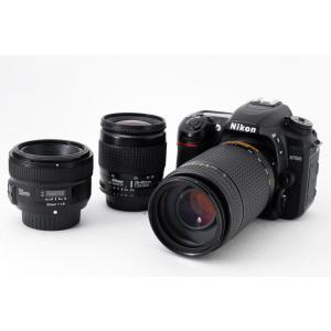 ニコン Nikon D7500 単焦点&標準&望遠トリプルレンズセット 美品 新品SDカード付き <...
