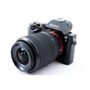ソニー SONY  α7 レンズキット ブラック 美品 高速連射に定評アリ 新品8GB SDカード付...