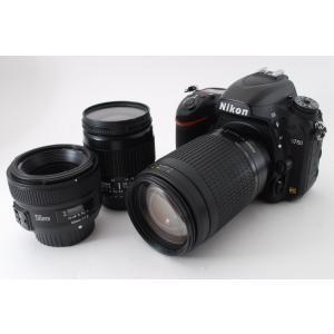 ニコン Nikon D750 デジタル一眼レフ 単焦点&標準&望遠トリプルレンズセット 美品 新品S...