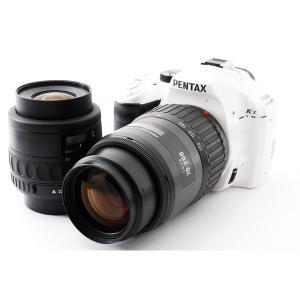 ペンタックス Pentax K-x ホワイト ダブルズームセット 美品 8GB 新品SDカード、元箱...