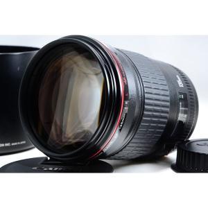 キヤノン CANON EF 135mm f/2 L 美品 EFマウント 望遠 交換レンズ 前後キャッ...