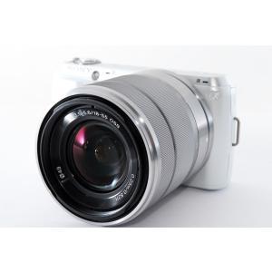 ソニー SONY Nex-C3 レンズキット ホワイト 美品 チルト可動式液晶モニター 新品SDカー...