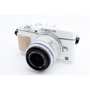オリンパス OLYMPUS E-P5 ホワイト レンズセット 美品 スマホへ転送 手ぶれ補正 新品S...