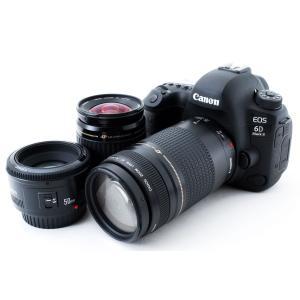 キヤノン Canon EOS 6D Mark II 標準&超望遠&単焦点トリプルレンズセット 品 G...