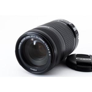 キヤノン Canon EF-S 55-250mm F4-5.6 IS II 美品 望遠ズームレンズ ...