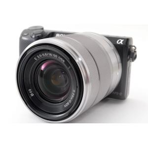 ソニー SONY NEX-5R レンズセット ブラック 美品 Wi-Fiでスマホへ転送 新品SDカー...