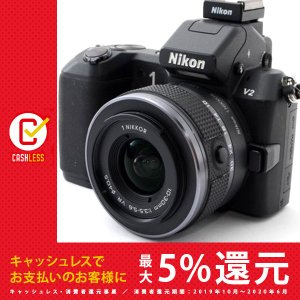 ニコン Nikon 1 V2 ブラックレンズキット 美品 ミラーレス一眼始めるならこれ 新品SDカー...