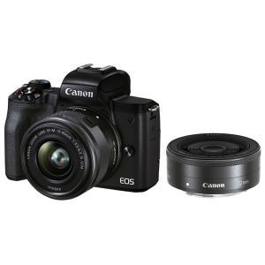 Canon EOS Kiss M2 ダブルレンズキット ブラック