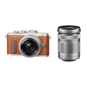 【あすつく】【選べる5年間延長保証対象(別料金)】オリンパス E-PL8 EZ ダブルズームキット ブラウン|camera-saito
