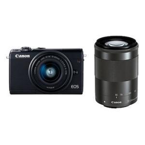 【あすつく】【選べる5年間延長保証対象(別料金)】キヤノン EOS M100 ダブルズームキット ブラック|camera-saito