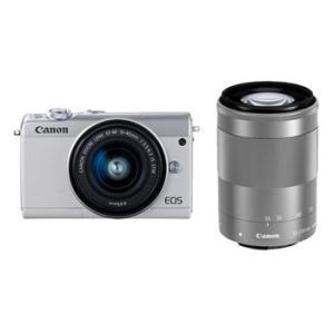 【あすつく】【選べる5年間延長保証対象(別料金)】キヤノン EOS M100 ダブルズームキット ホワイト|camera-saito