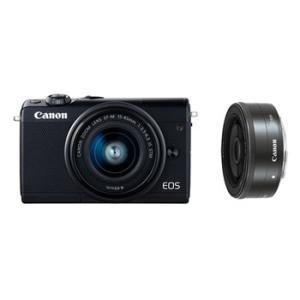 【あすつく】【選べる5年間延長保証対象(別料金)】キヤノン EOS M100 ダブルレンズキット ブラック|camera-saito