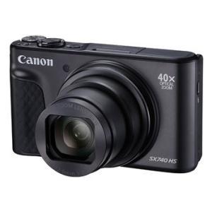 【あすつく】【選べる5年間延長保証対象(別料金)】キヤノン PowerShot SX740 HS ブラック|camera-saito