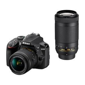【あすつく】【選べる5年間延長保証対象(別料金)】ニコン D3400 ダブルズームキット ブラック|camera-saito