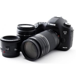 一眼レフカメラ フルサイズ Canon キヤノン EOS 5D Mark III トリプルレンズセッ...