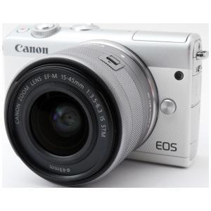 Canon キヤノン EOS M100 ホワイト レンズキット ミラーレスカカメラ SDカード付き