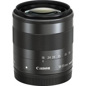 交換レンズ 中古 Canon キヤノン EF-M 18-55mm F3.5-5.6 IS STM