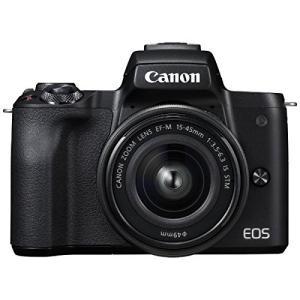 ミラーレス 中古 Canon キャノン EOS Kiss M ブラック 15-45mm IS STM...