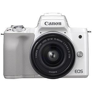 ミラーレス 中古 Canon キャノン EOS Kiss M ホワイト 15-45mm IS STM...