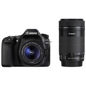 一眼レフカメラ 中古 Canon キヤノン EOS 80D ダブルズームキット(EF-S 18-55...