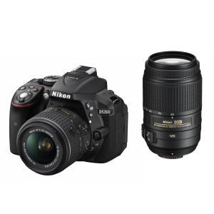 一眼レフカメラ D5300 ダブルズームキット  中古品につき使用感がございますが、通常使用に問題ご...