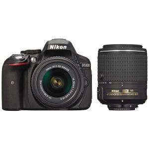 一眼レフカメラ D5300 ダブルズームキット2  中古品につき使用感がございますが、通常使用に問題...