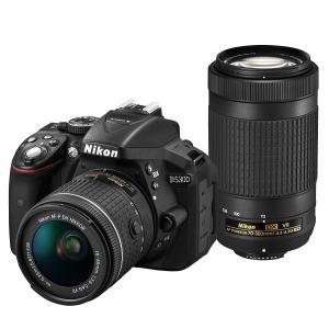一眼レフカメラ D5300 AF-P ダブルズームキット  中古品につき使用感がございますが、通常使...