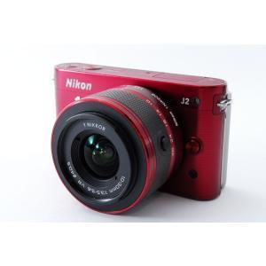 ミラーレス一眼 中古 Nikon ニコン 1 J2 レッド レンズキット SDカード付き