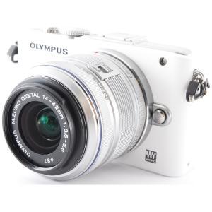 ミラーレス一眼 カメラ Olympus オリンパス PEN Lite E-PL3 ホワイト レンズキ...