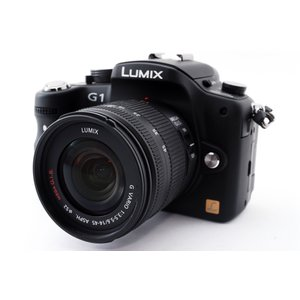 ミラーレス一眼 中古 Panasonic LUMIX G1 ブラック レンズキット SDカード付き