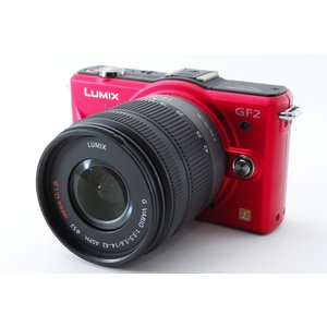 ミラーレス一眼 カメラ LUMIX ルミックス GF2 レッド レンズキット SDカード付き
